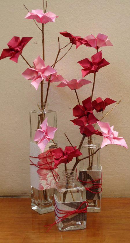 """ALT+=""""origami em vaso"""""""