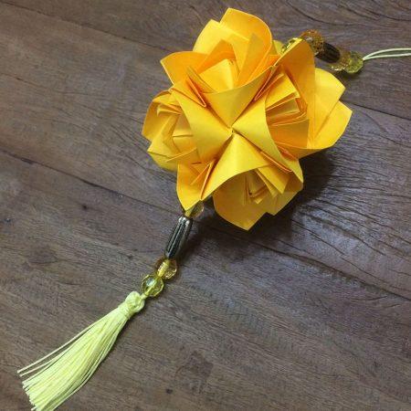 """ALT+=""""kusudama fluffy rose amarelo"""""""