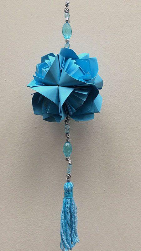 """ALT+=""""kusudama fluffy rose azul"""""""