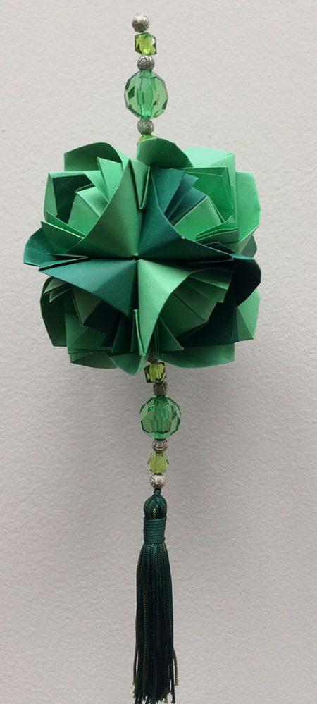 """ALT+=""""kusudama fluffy rose verde"""""""